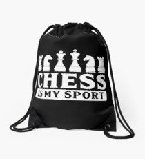 Chess Chess Pieces Board Game Sport Gift Idea Drawstring Bag