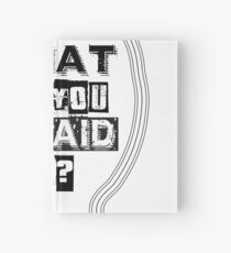 What are you afraid of? Hardcover Journal