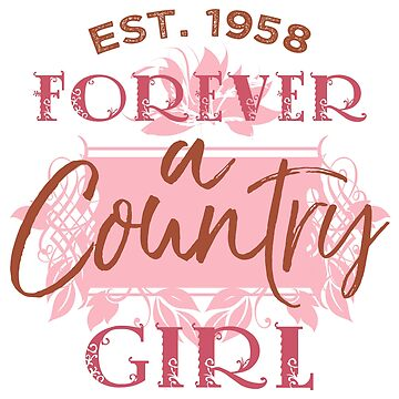 1958 Birthday Country Girl by thepixelgarden