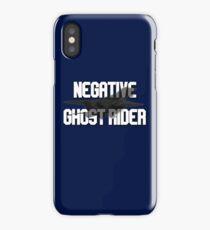 Negative Ghost Rider iPhone Case
