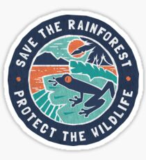Save the Rainforest, Protect the Wildlife Sticker