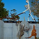 Skeletal Fence Mower by Penny Smith
