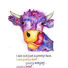 More than a pretty face...Lizzy cow by Jeri Stunkard
