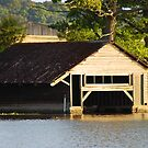 Sunset Boathouse by Paul Morley
