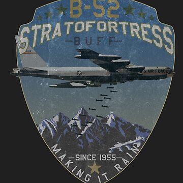 B-52 Stratofortress | Making it Rain Since 1955 Vintage Design by RealPilotDesign