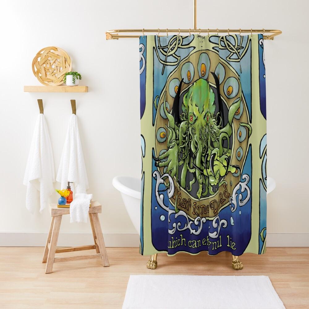 Cthulhu Nouveau Shower Curtain
