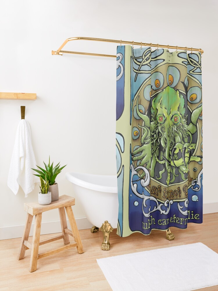 Alternate view of Cthulhu Nouveau Shower Curtain