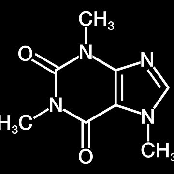 Caffeine Chemical Structure by RecoveryGift