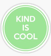 Kind is Cool - Green/White Sticker