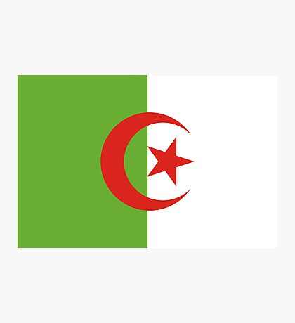 Algeria, national id Photographic Print
