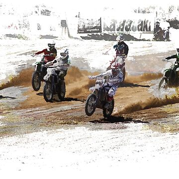Starting Strong! - Motocross Racers  by NaturePrints