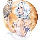 A girl and her owl by agirlandher