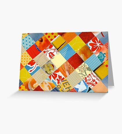 Collagecard: Red yellow blue  Greeting Card