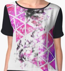 Abstract designer pink Chiffon Top