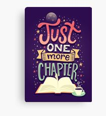 One more chapter Canvas Print