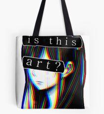 IS THIS ART? SAD JAPANESE AESTHETIC (White border) Tote Bag
