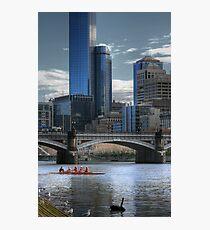 Tram on a Bridge... Photographic Print