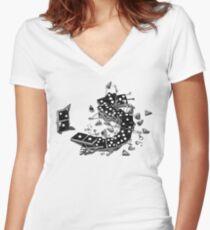Domino Drunks Women's Fitted V-Neck T-Shirt