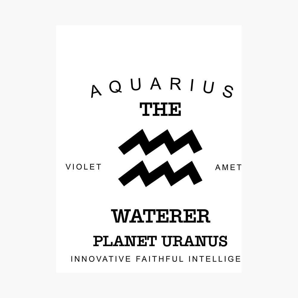 """January February Birthday Gifts Born In January February Aquarius Gift Zodiac Sign Horoscope"" Photographic Print by djpraxis | Redbubble"
