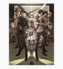 """Shingeki no kyojin """"AOT"""" season 3 Photographic Print"""