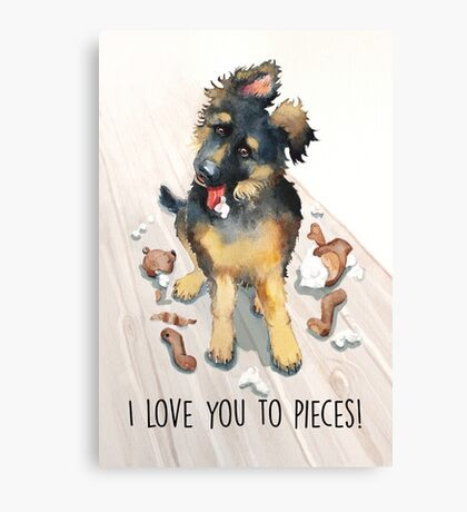 I Love You To Pieces! Canvas Print