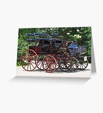 Historic Carriages Greeting Card