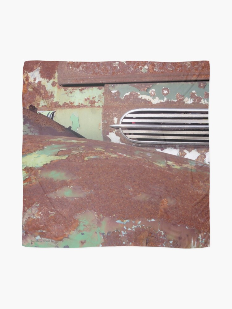 Alternate view of Green and Rust Car #4 Scarf