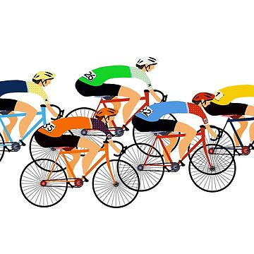 Bunch of cyclists  by lynhurring