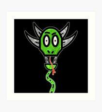 Snake Demon Art Print
