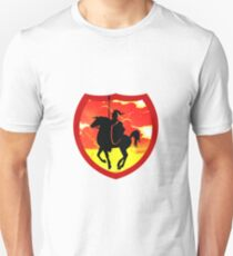 Knight on his steed Unisex T-Shirt