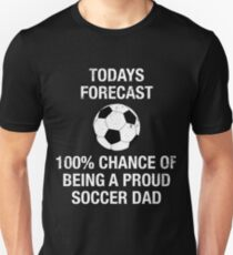 Camiseta unisex Cute Proud Soccer Dad Funny T Shirt