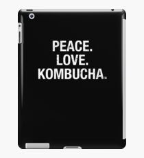 Funny Peace Love Kombucha Hipster Tea Drinkers T Shirt iPad Case/Skin