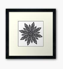 Grunge Decorative Spiky Mandala Framed Print