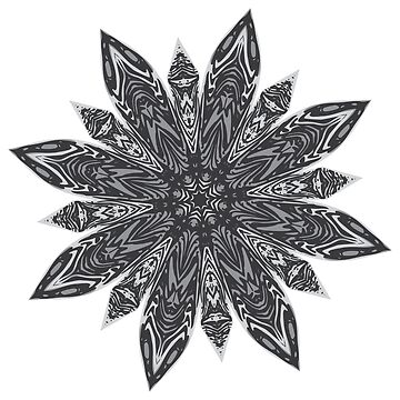 Grunge Decorative Spiky Mandala by AnnArtshock