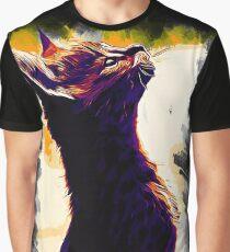 gxp serval cat vector art sunset Graphic T-Shirt