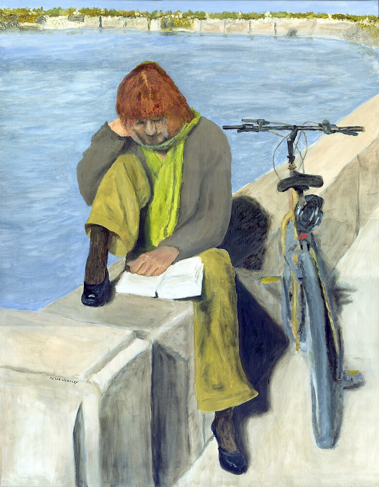 Woman Reading by Peter Worsley