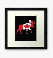 Canada Moose Shirt Framed Print