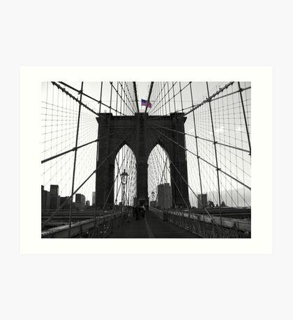 Bridge over troubled water (B&W) Art Print
