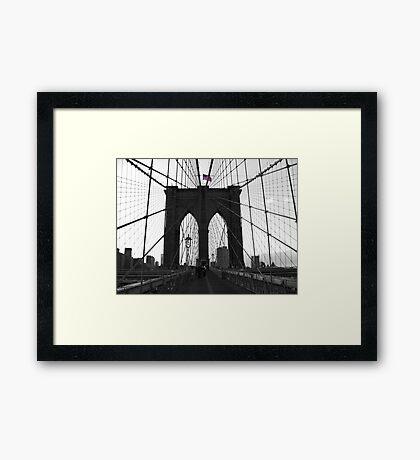 Bridge over troubled water (B&W) Framed Print