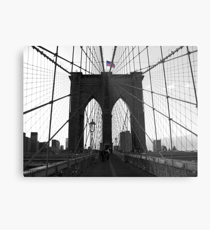 Bridge over troubled water (B&W) Metal Print