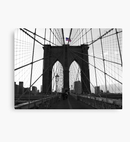 Bridge over troubled water (B&W) Canvas Print