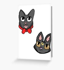 Kiks delivery service greeting cards redbubble luna and jiji greeting card m4hsunfo