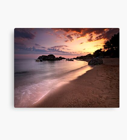 The end of the day. Canvas Print
