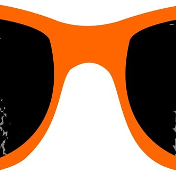 Orange sunglasses and pineapple by ZnDigitalPrints