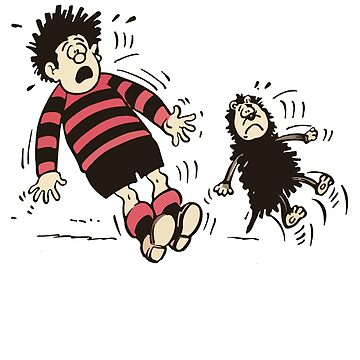 Dennis the Menace and Gnasher Shocked by red-rawlo