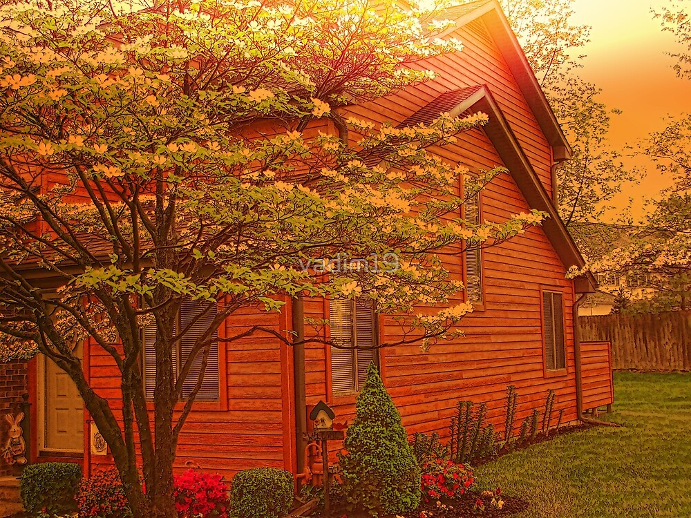 Cottage at Sunset by vadim19