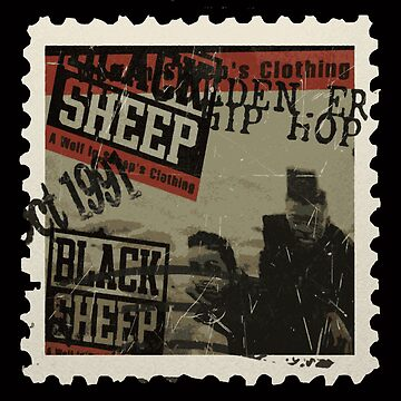Black Sheep Golden Era Hip Hop Stamp by ocansey