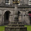 The quadrangle light, Holyrood Palace. by Finbarr Reilly