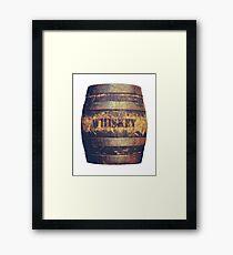 Rustic American Whiskey Barrel Framed Print