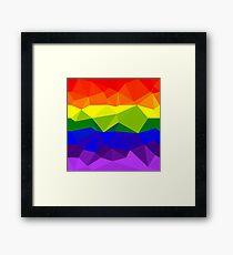 Low Polygon Pride Framed Print